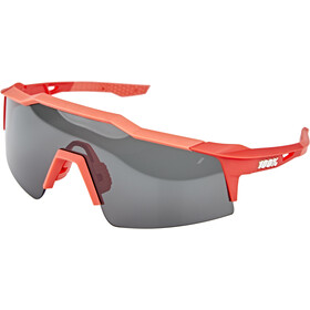 100% Speedcraft Brille Small soft tact coral/smoke